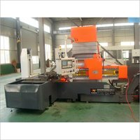 Three axis gun drilling machine for cubic workpiece