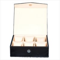 Fico Black Watch Box for 6 watches