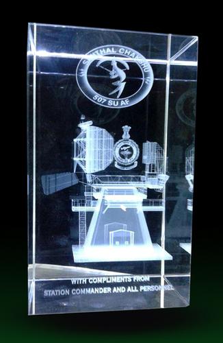 3D Laser Engraved Corporate Crystal Gift Mementos
