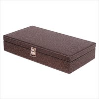 Fico Golden-Brown Watch Box for 12 watches