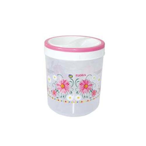 Plastic Round Foil Printed  Multi Purpose Container SPICY 5500