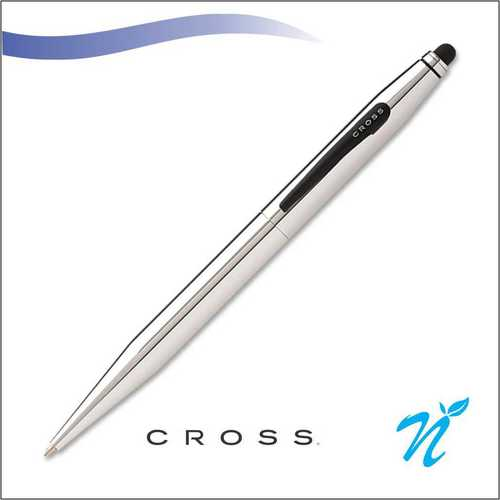 Tech 2 Chrome ball pen with Stylus