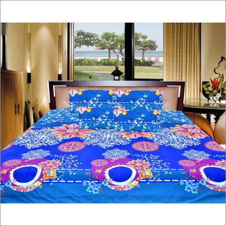 Polycotton Flower Design Bed Sheet