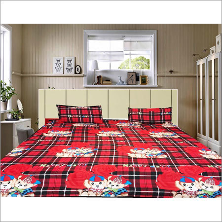 Cartoon Print Bed Sheet