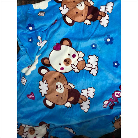 Cartoon Print Polar Blanket