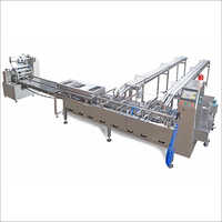 Double Lane Sandwiching Machine with flow wrapping