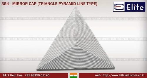 Mirror Cap Triangle Pyramid Line Type