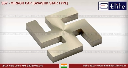 Mirror Cap Swastik Star Type
