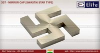 Mirror Cap Swastik Star Type