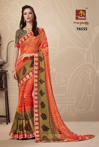 Beautiful  brasso sarees online shopping
