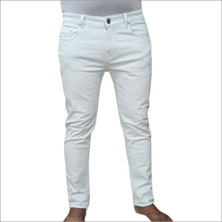 Mens White Jeans