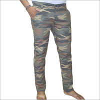 Army Print Colour Casual Trouser