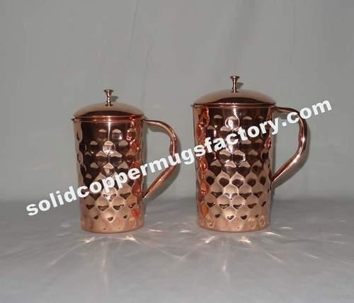 Diamond Hammered Copper Jug