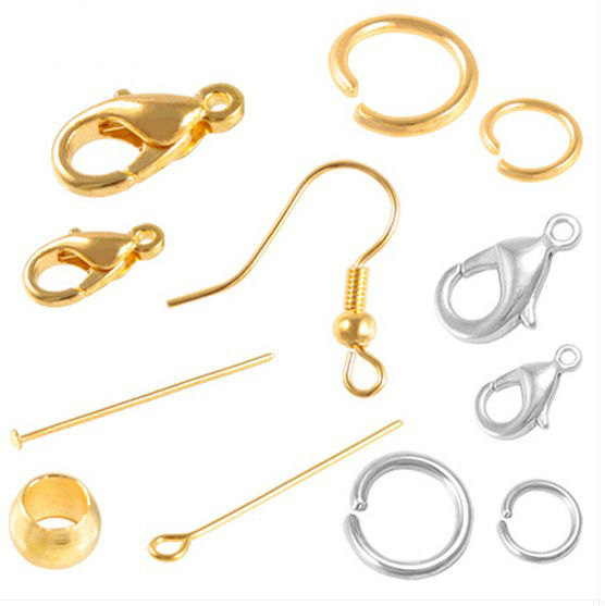 24k Gold Plated Spring Ring Clasps - Jewelry Finding Bead