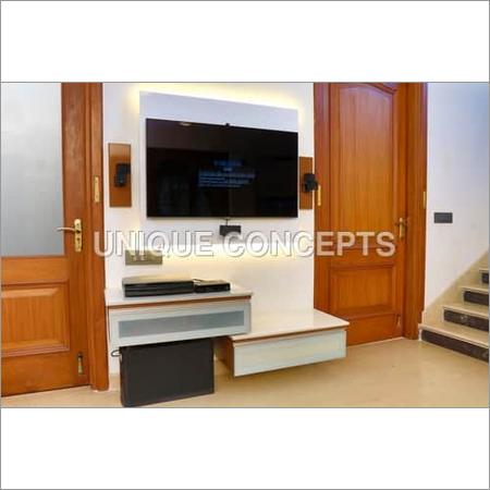 Designer Wooden TV Entertainment Unit