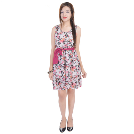 Ladies One Piece Printed Dress