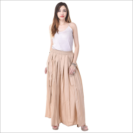 Ladies Pleated Long Skirt