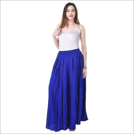 Ladies Plain Long Skirt