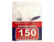 150 Sheets Ruled Filler Paper