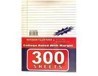 300 Sheets College Ruled Filler Paper