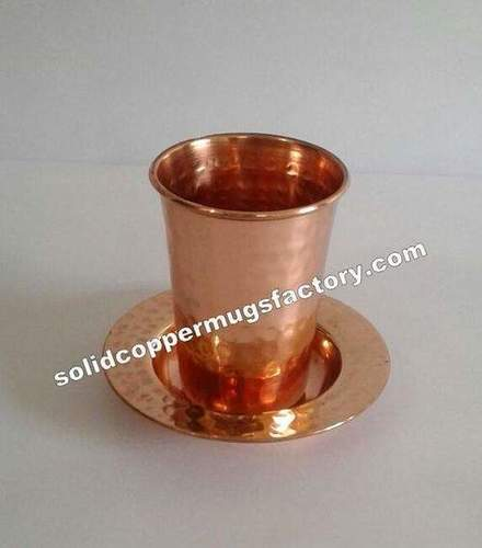 Copper Hammered Pint Glass