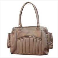 Brown Ladies Backpack Bag