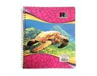 Five Subject Assorted Color Pages Notebook