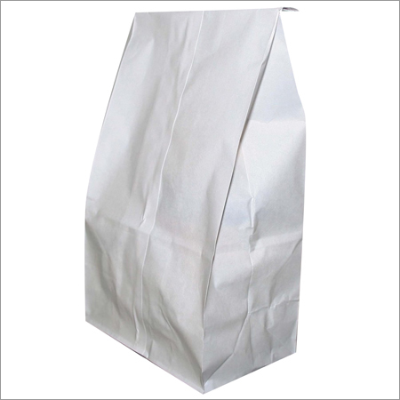 Disposable White Paper Bag