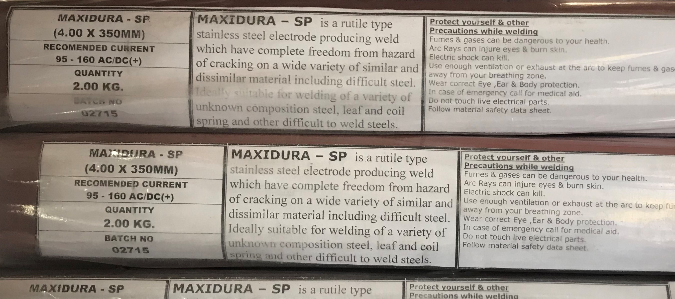 DISSIMILAR & UNKNOWN STEEL JOINING MAXIDURA - SP