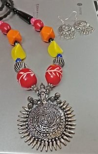 Colourful Beaded Necklace Set