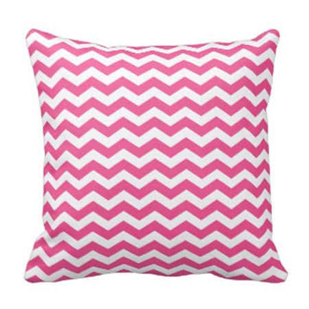 White Chevron Pillow