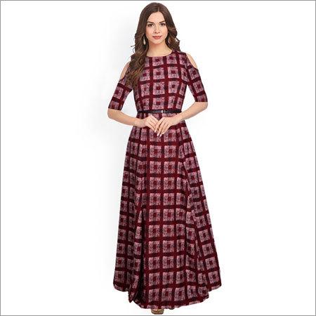 Ladies Zorba 8022 Maroon Gown