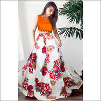 Ladies Fox Maroon Lehenga