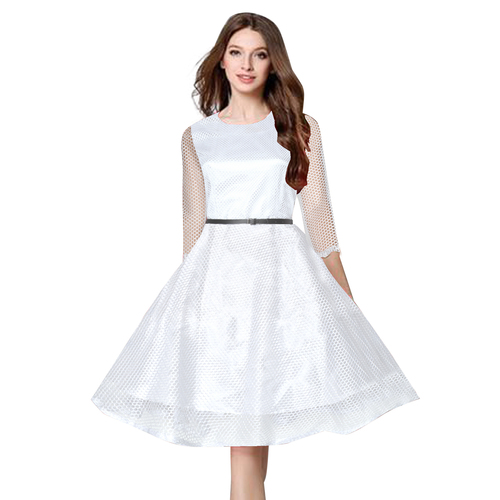Ladies Frock Style Plain Dress