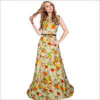 Ladies Floral Print Gown