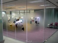 Office Toughened Glass Wall Partition