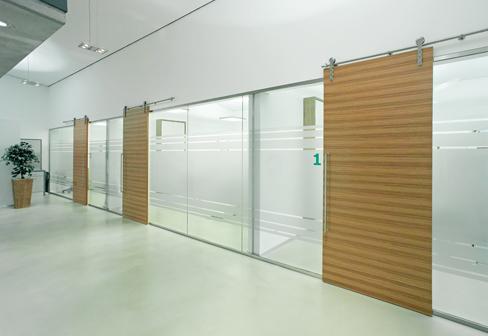 Office Toughened Partition Glass