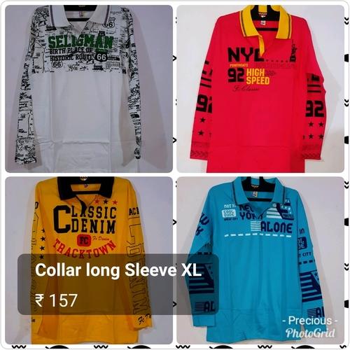 Mens  Printed Collar T Shirts