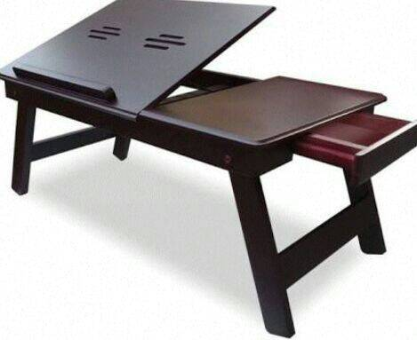 BROWN LAPTOP TABLE