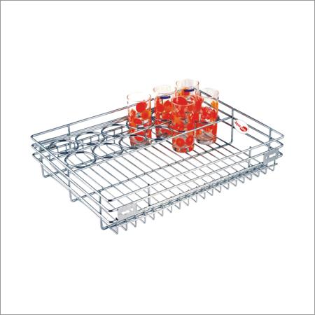 Kitchen Glass Partition Basket