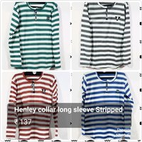 Full Sleeve Henley Collar T Shirts