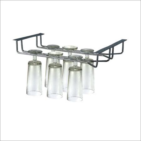 Double Wine Glass Holder Rack