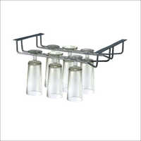 Double Wine Glass Holder Rack