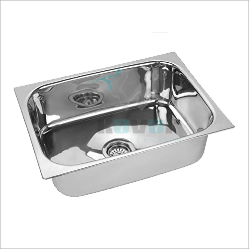 SS Kitchen Sink Square 24x18x9- Deluxe