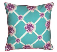 Digital Printed Floral Design Cushion Cover