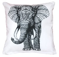 Digital Printed Elephant Design Cushion Cover