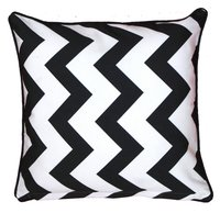 Digital Printed Zigzag Design Cushion Cover