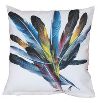 Digital Printed Feather Design Cushion Cover