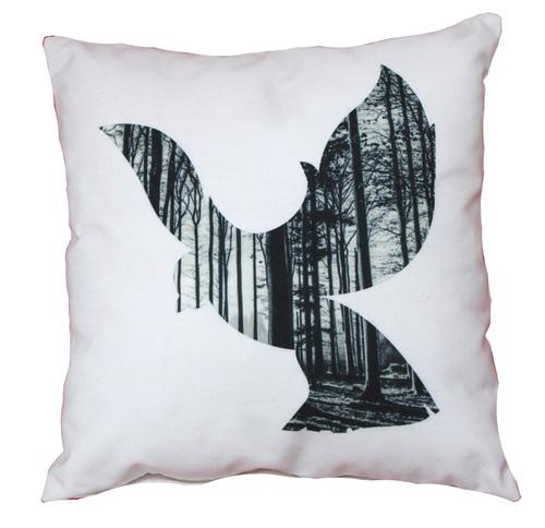 Digital Printed Bird Design Cushion Cover