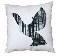 Digital Printed Bird Design Cushion Cover
